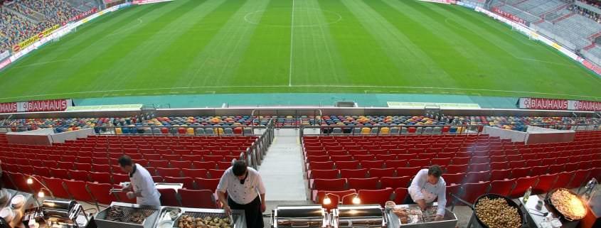 Erlebnis: Stadionterrasse in Düsseldorf, tulipinndusarena.com
