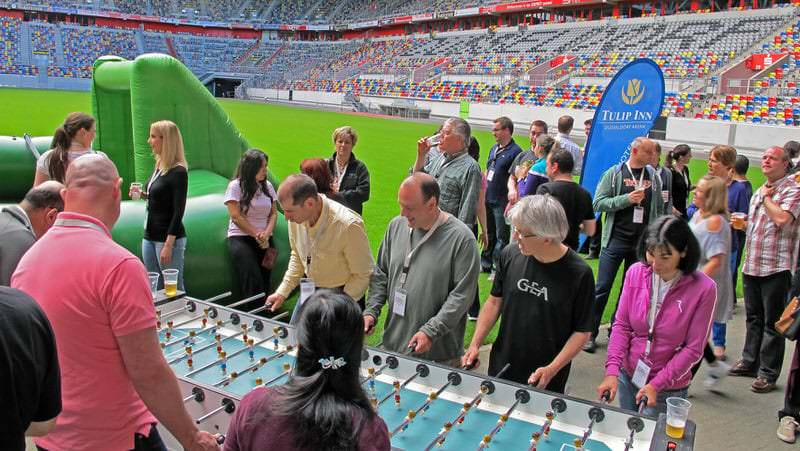 Human Soccer im Stadion