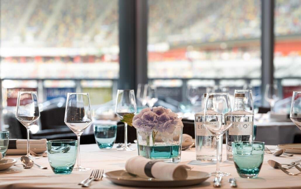 Festivitäten mit Blick in die Arena Hotel Tulip Inn Düsseldorf Arena
