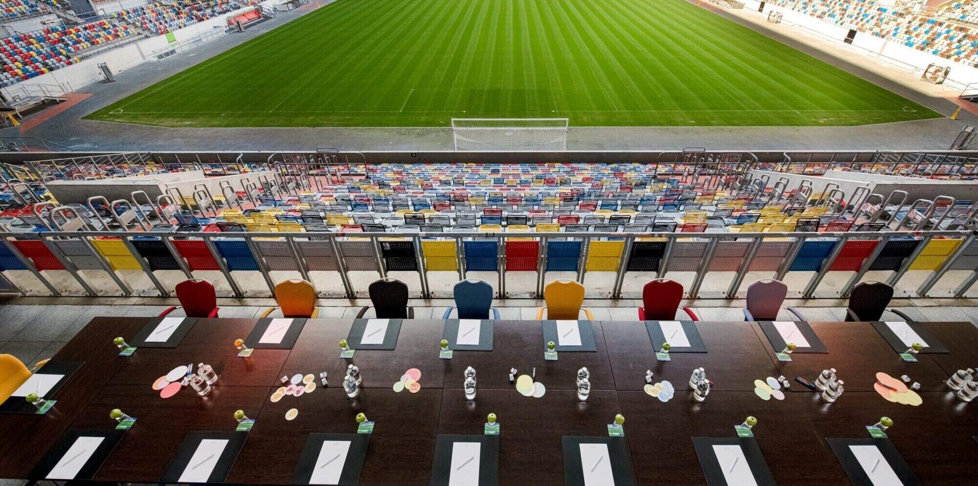 Tagen auf der Stadionterrasse Hotel Tulip Inn Düsseldorf Arena